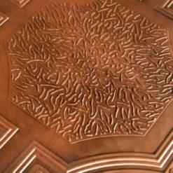 TD02 Aged Copper Faux Tin Ceiling Tile