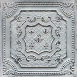 TD04 Old Black White Faux Tin Ceiling Tile