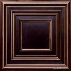 222 Antique Gold Faux Tin Ceiling Tile