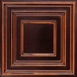 222 Antique Teakwood Faux Tin Ceiling Tile
