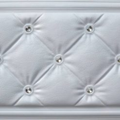 LT315 White Tufted Faux Leather Wall Panel