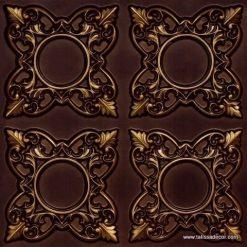 133 Antique Gold Faux Tin Ceiling Tile