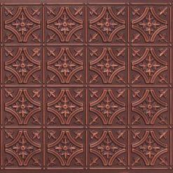8150 Antique Copper Faux Tin Ceiling Tile