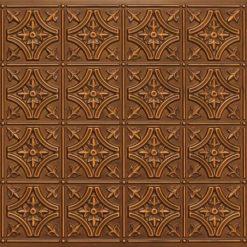 8150 Antique Gold Faux Tin Ceiling Tile