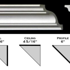 "110ML - Polystyrene Crown Molding 6"" wide"