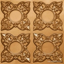 133 Gold Faux Tin Ceiling Tile