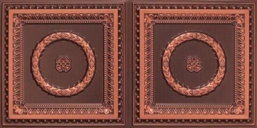 8210 Faux Tin Ceiling Tile - Antique Copper