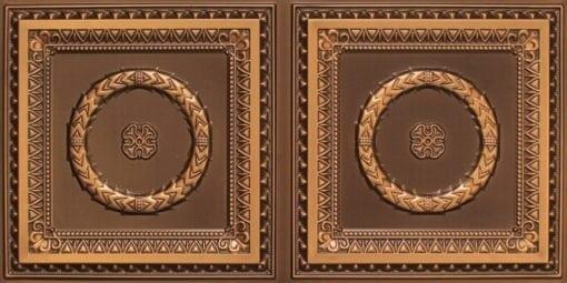 8210 Faux Tin Ceiling Tile - Antique Gold