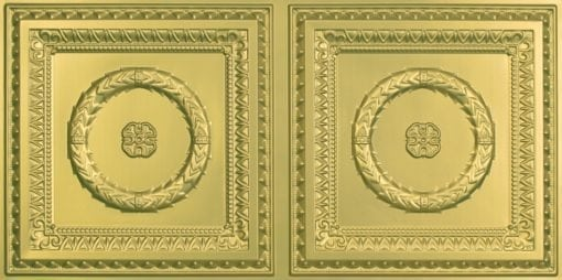 8210 Faux Tin Ceiling Tile - Brass