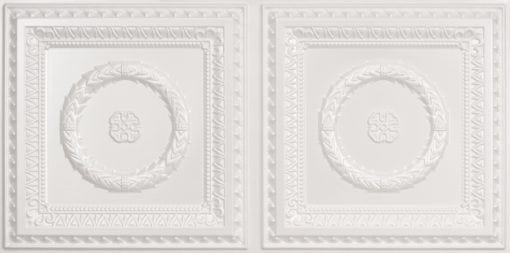 8210 Faux Tin Ceiling Tile - White Pearl