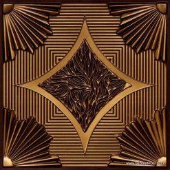 201 Antique Gold Faux Tin Ceiling Tile