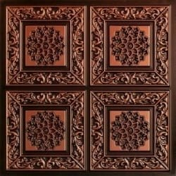 203 Antique Copper Faux Tin Ceiling Tile