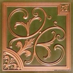204 Patina Copper Faux Tin Ceiling Tile