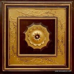 219 Antique Gold Faux Tin Ceiling Tile