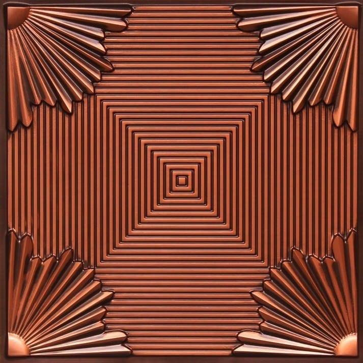 229 Antique Copper Faux Tin Ceiling Tile