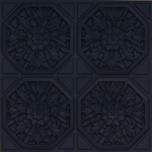 108 Black Matte Faux Tin Ceiling Tile