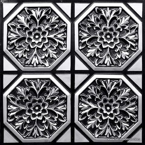 108 Antique Silver Faux Tin Ceiling Tile