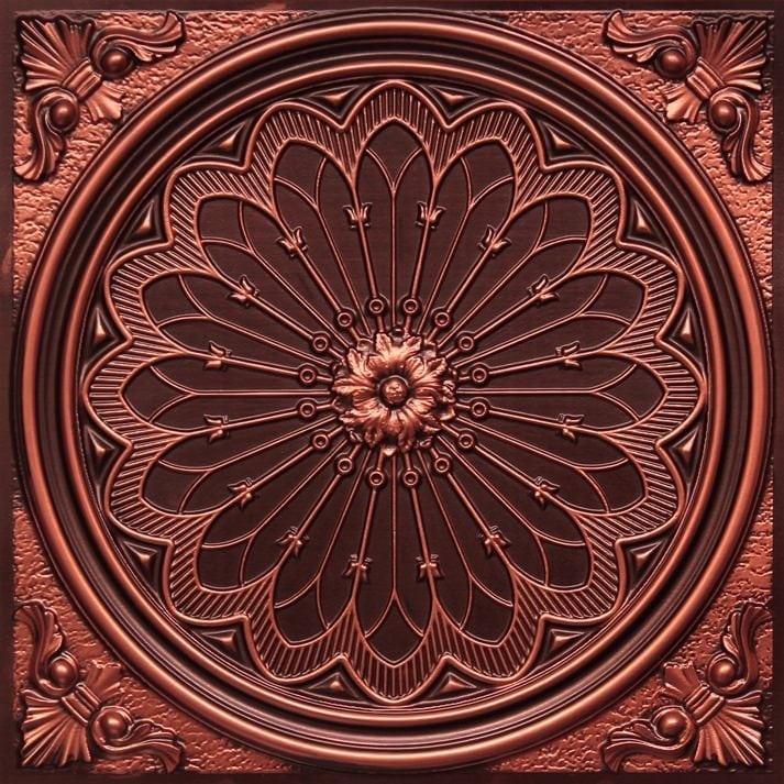 238 Antique Copper Faux Tin Ceiling Tile