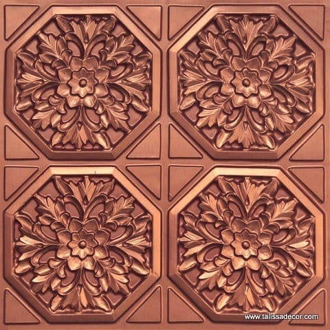 108 Copper Faux Tin Ceiling Tile
