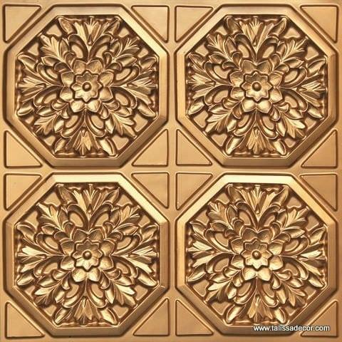 108 Gold Faux Tin Ceiling Tile