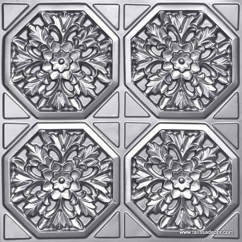 108 Silver Faux Tin Ceiling Tile