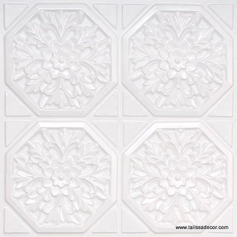 108 White Pearl Faux Tin Ceiling Tile
