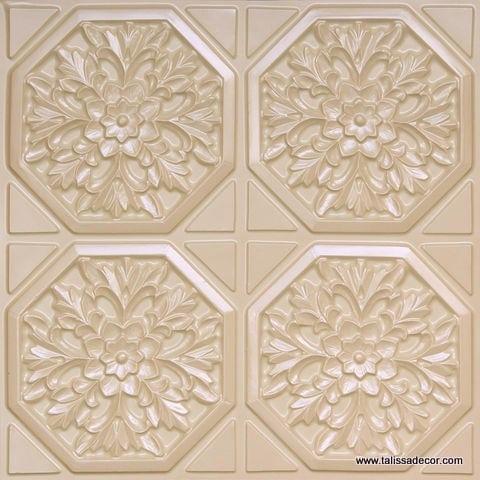 108 Cream Pearl Faux Tin Ceiling Tile