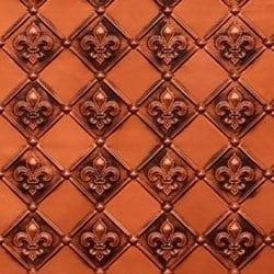 WC80  Faux Tin Backsplash Roll - Antique Copper