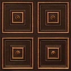 112 Antique Gold Faux Tin Ceiling Tile