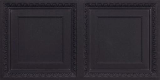 8267 Faux Tin Ceiling Tile - Black Matte