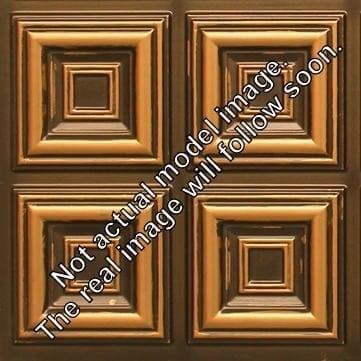 8267 Faux Tin Ceiling Tile - Antique Gold