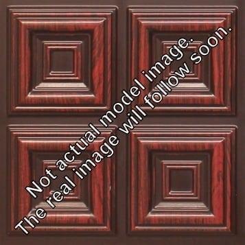 8267 Faux Tin Ceiling Tile - Antique Rosewood