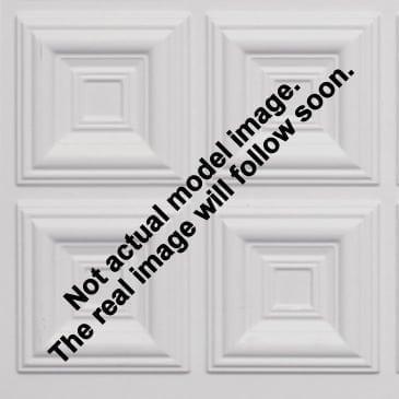 8267 Faux Tin Ceiling Tile - White Matte