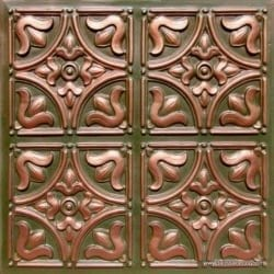 148 Patina Copper  Faux Tin Ceiling Tile
