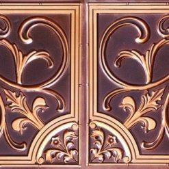 8204  Faux Tin Ceiling Tile - Antique Copper