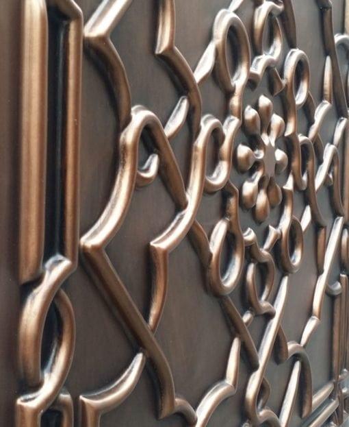 TD09 Faux Tin Ceiling Tile - Aged Copper