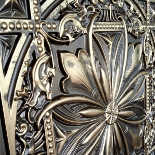 TD10 Faux Tin Ceiling Tile - Classic Aged Bronze