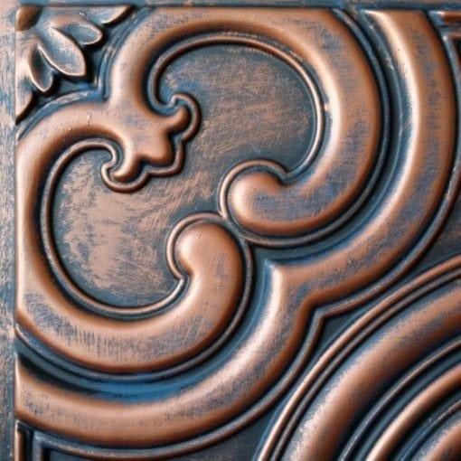 TD50 Faux Tin Ceiling Tile - Rustic Copper