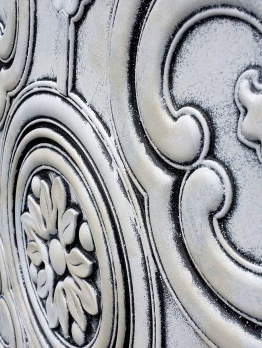 TD50 Faux Tin Ceiling Tile - Weathered Black White