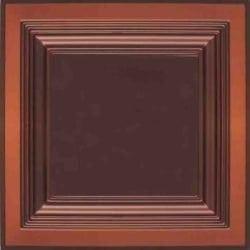 274  Faux Tin Ceiling Tile - Coffered - Antique Copper