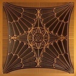 254 Faux Tin Ceiling Tile - Antique Gold
