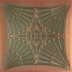 254 Faux Tin Ceiling Tile - Patina Copper