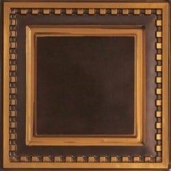 234 Faux Tin Ceiling Tile - Antique Gold