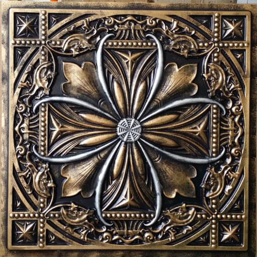 TD10 Faux Tin Ceiling Tile -  Archaic Aged Copper