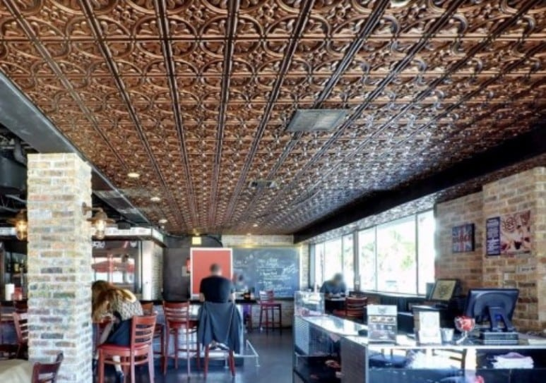 Real Tin Versus Faux Ceiling Tiles Talissa Decor
