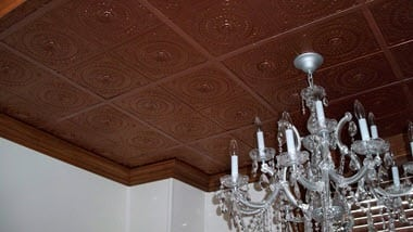 Ceiling-tiles-in-dining-room