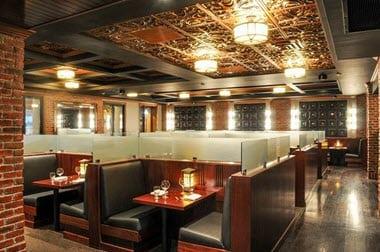 Ceiling-tiles-in-restaurant
