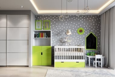 children's-room-with-accent-wall