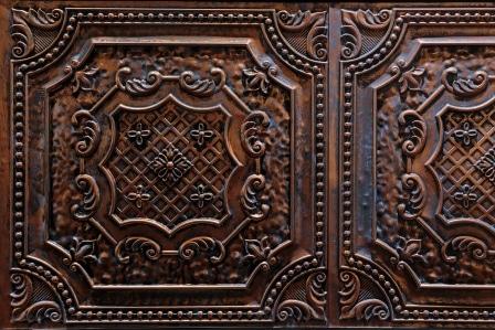 decorative dark brown tiles
