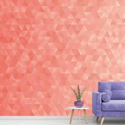 Coral Geometric Triangles